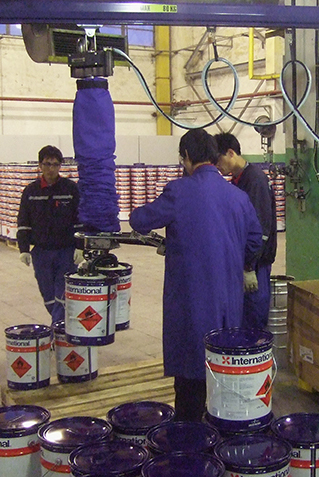 TAWI VacuEasylift ATEX lifter chemical industry
