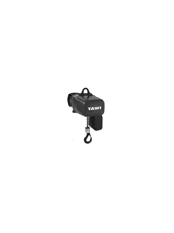 Chain hoist for heavy lifting on transparent background.