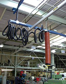 overhead crane system with steel and aluminium profiles