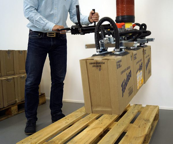 lifting multiple boxes with handheld vacuum lifter