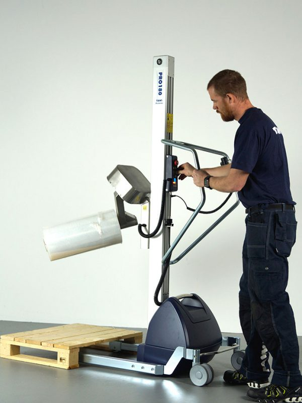 lifting and turning roll with coregripper tool on lifting trolley