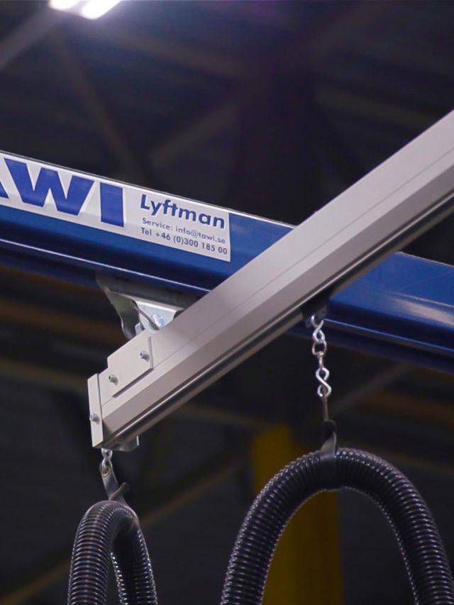 TAWI steel and aluminium crane system