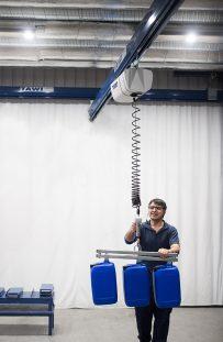 TAWI ViperHoist in single girder crane system