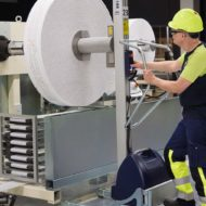 Mounting reels with TAWI lifting trolleys