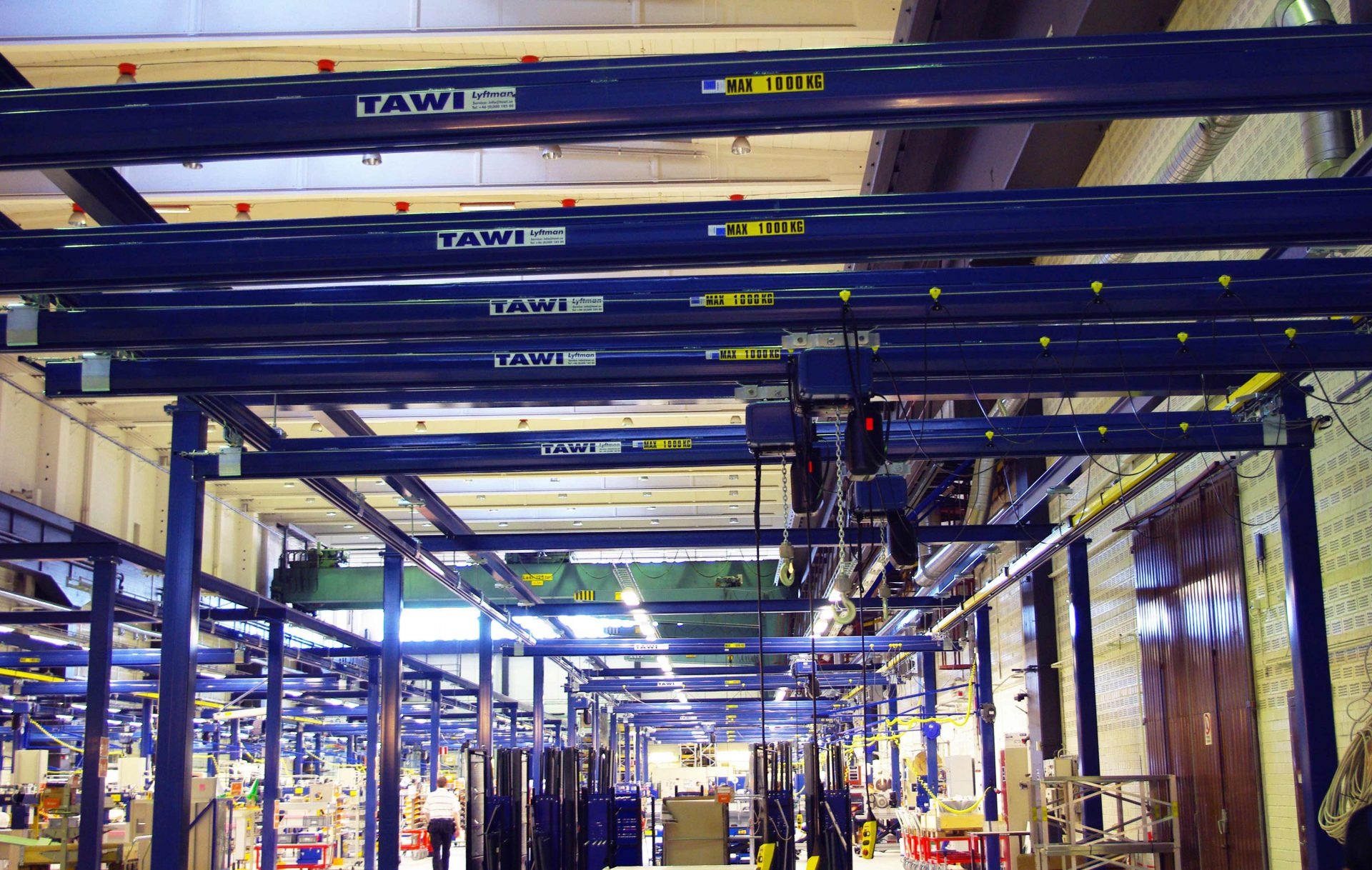 floor mounted overhead crane system in factory