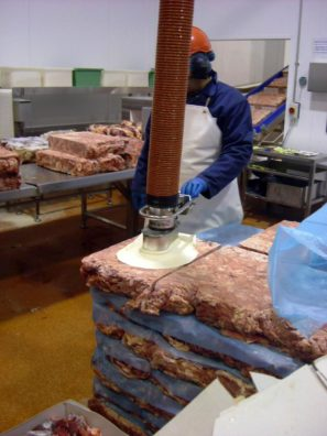 Vacuum lifter for meat