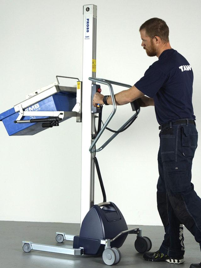 Lifting equipment for tilting crates