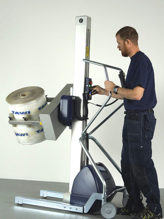 lifting and rotating roll with lifting trolley