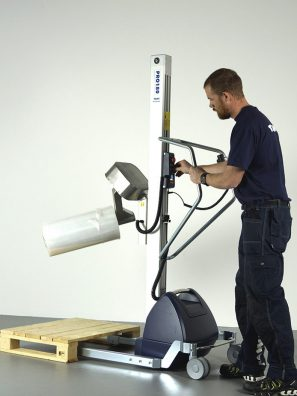 turning reel with coregripper tool on lifting trolley