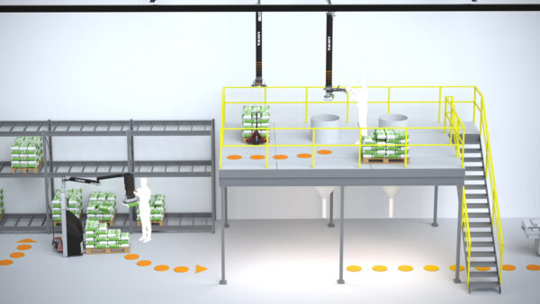 Mixing station in food industry