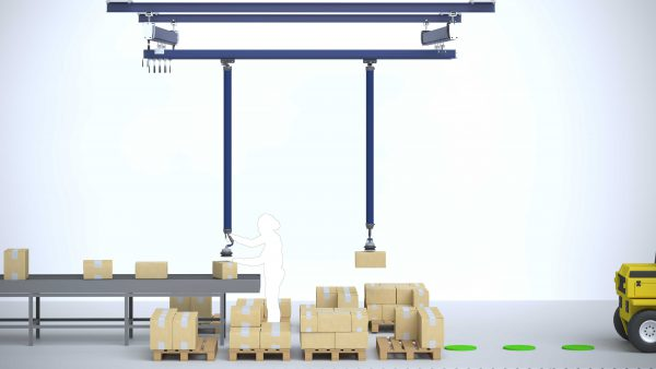 Conveyor to pallet logistics