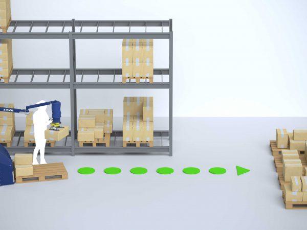 Logistic warehouse order picking