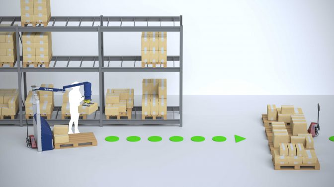 Logistic warehouse order picking