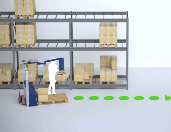Logistic industry order picking system