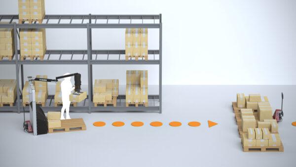 warehouse order picking illustration
