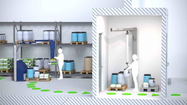 Cleanroom airlock
