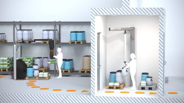 handling goods in pharmaceutical industry cleanroom