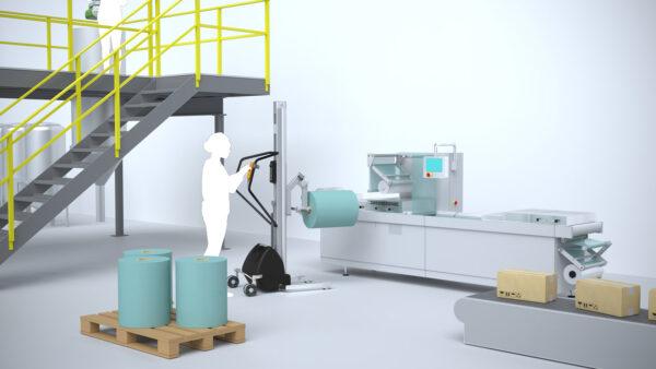 mounting reel in packaging machine in pharma industry