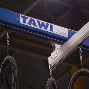 TAWI crane system steel and aluminium