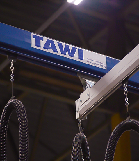TAWI crane system steel and aluminium