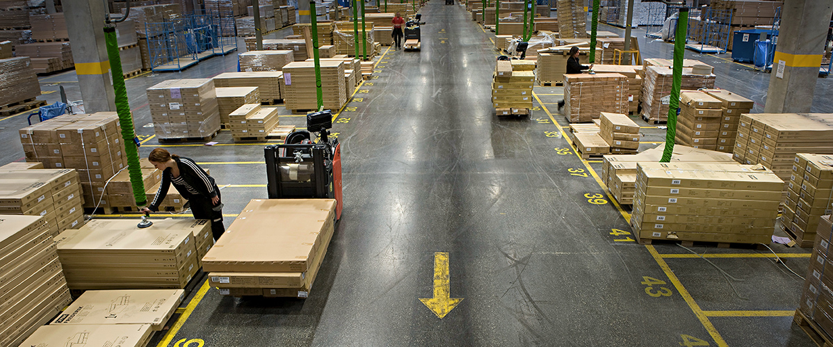 Vaculex lifters in warehouse