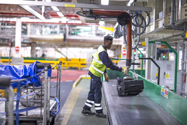 Baggage handling at Heathrow airport