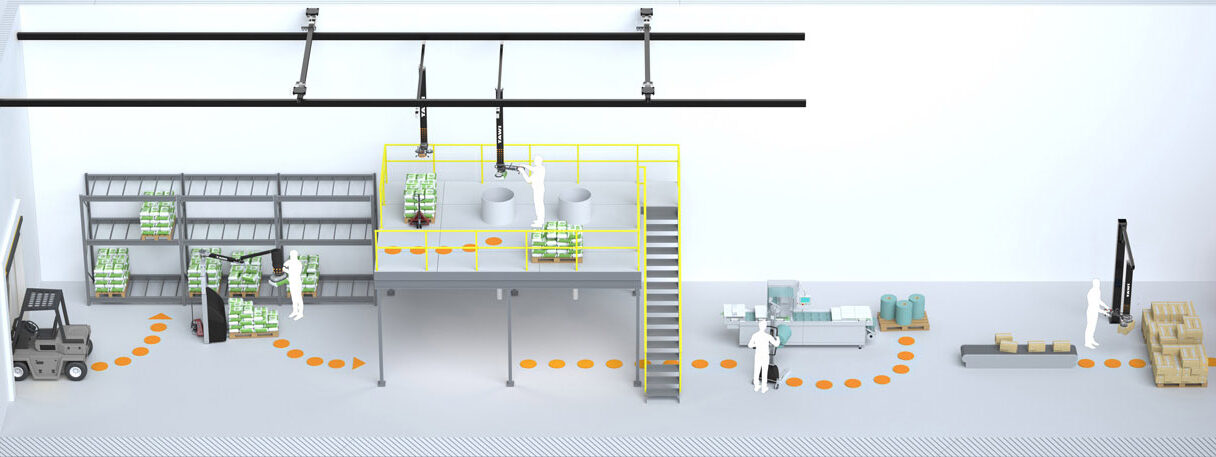 Illustration of food manufacturing workflow