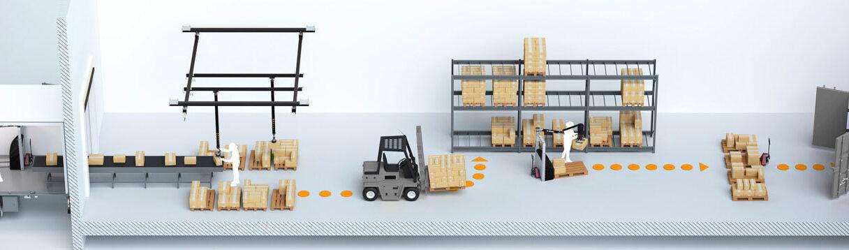 Illustration of a logistics workflow