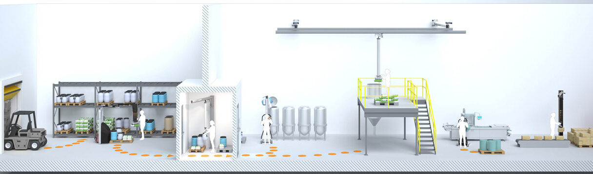 Illustration of a pharmaceutical industry workflow